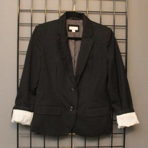 Classic Black Merona Blazer with Optional Cuffs